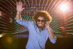Male DJ playing music Stock Photos