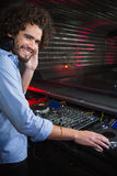 Male DJ playing music Royalty Free Stock Image