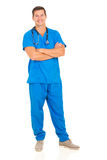 Male doctor arms folded Royalty Free Stock Image