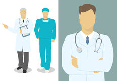Male doctor  the doctor set of characters   Royalty Free Stock Image