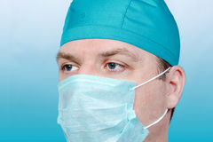 Male doctor face close up Royalty Free Stock Image