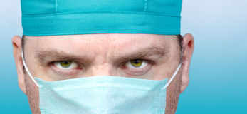 Male doctor face close up Stock Photography