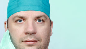 Male doctor face close up Royalty Free Stock Images
