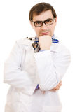 Male doctor in glasses Royalty Free Stock Photos