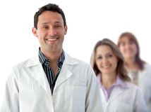 Male doctor with a group Royalty Free Stock Images