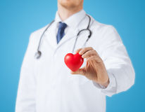 Male doctor with heart Royalty Free Stock Images