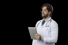 Male doctor in his office Royalty Free Stock Photos