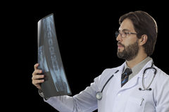 Male doctor in his office Stock Images