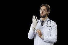 Male doctor in his office Royalty Free Stock Photo