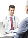 Male doctor and his patient Stock Photo
