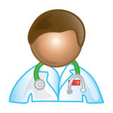 Male doctor icon Royalty Free Stock Photos
