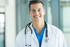 Male doctor looking Royalty Free Stock Photography