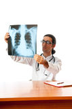 Male doctor looking at x-ray Royalty Free Stock Image