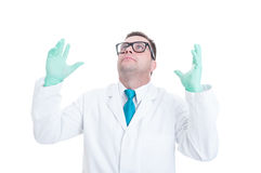 Male doctor or medic acting despaired Royalty Free Stock Photography