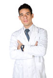 Male doctor over white Stock Images
