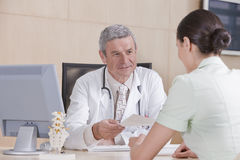 Male doctor and patient Stock Image