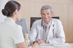 Male doctor and patient Royalty Free Stock Images