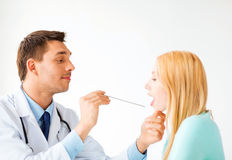 Male doctor with patient Stock Image