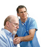 Male Doctor and Senior Patient stock photo