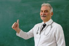 Male Doctor is smiling Royalty Free Stock Photos