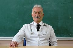 Male Doctor is smiling Royalty Free Stock Images