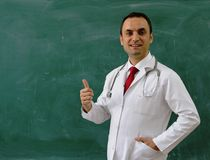 Male Doctor is smiling Stock Photo