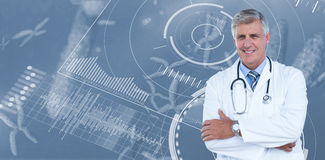 Male doctor standing arms crossed Stock Photo
