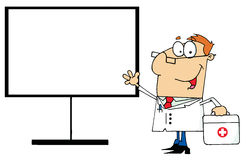 Male doctor standing by a blank board Stock Photo