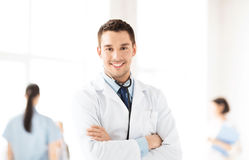 Male doctor with stethoscope Royalty Free Stock Images