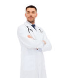 Male doctor with stethoscope Royalty Free Stock Image