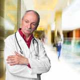 Male doctor with stethoscope Stock Photography