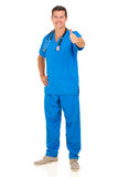 Male doctor thumb up Royalty Free Stock Photo