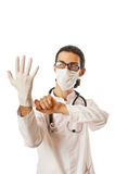 Male doctor  on the white Royalty Free Stock Photo