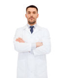 Male doctor in white coat Stock Image