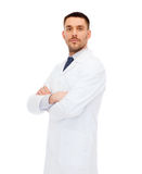 Male doctor in white coat Royalty Free Stock Photos