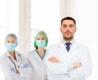 Male doctor in white coat Royalty Free Stock Image