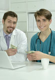 Male doctors  in medical office Royalty Free Stock Image