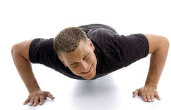 Male doing push ups Stock Images