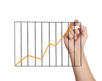 Male drawing a graph Stock Photo