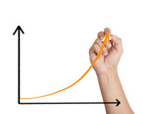 Male drawing a graph Stock Photos