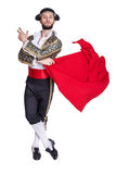 Male dressed as matador on a white background. Studio portrait Stock Photo