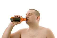 Male drinking beer. Stock Photo