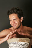 Male drum player Stock Photo