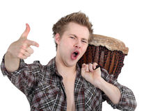 Male drummer Stock Photo