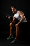 Male dumbbelll lifting Royalty Free Stock Photos