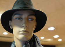 Male dummy in a black hat.  Royalty Free Stock Photos