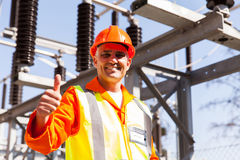 Male electric engineer Stock Photos