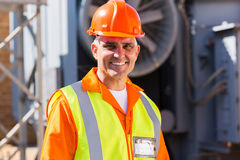 Male electrician substation stock photos