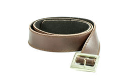 Male elegant belt isolated on the white Royalty Free Stock Photography