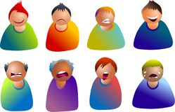Male emoticons Royalty Free Stock Images